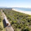 Солнечный поезд залива Байрон